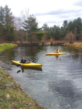 Kayaking destination in Vermont's Green Mountain National Forest